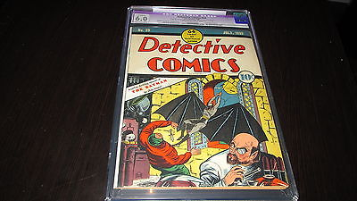 Detective Comics 29 DC Comics Golden Age 1939 2nd Batman cover Dr Death CGC 60