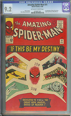 AMAZING SPIDERMAN 31 CGC 92 OWWH PAGES  1ST APP GWEN STACY  HARRY OSBORN