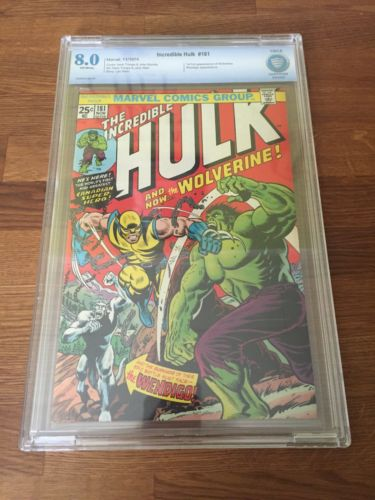 Incredible Hulk 181 1974 CBCS 80 VF 1st Full Appearance Of Wolverine CGC PGX