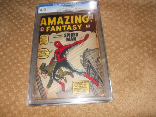 Amazing Fantasy 15 Aug 1962 CGC Grade 40 1st Spiderman Light Tan to Off White