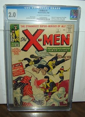 XMen 1 CGC 20 OW White Pages Origin1st XMen 1963 Jack Kirby id 13409