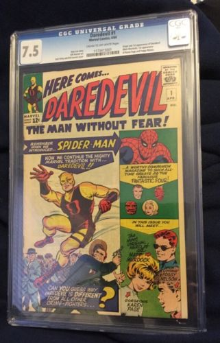 Daredevil Comic Book Number 1 CGC Graded 75 RARE KEY ISSUE