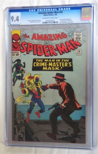 AMAZING SPIDERMAN 26 CGC 94 NEAR MINT 1965 OW  WHITE PAGES