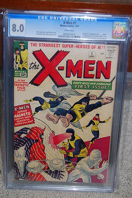 XMen 1 CGC 80 Marvel 1963 Wolverine WHITE PAGES See Scans B8 801 cm