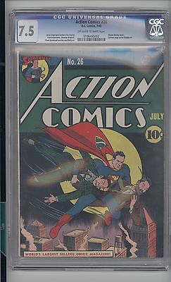 ACTION 26    CGC  75   VF  UNIVERSAL OW TO WHITE  VERY  EARLY SUPERMAN