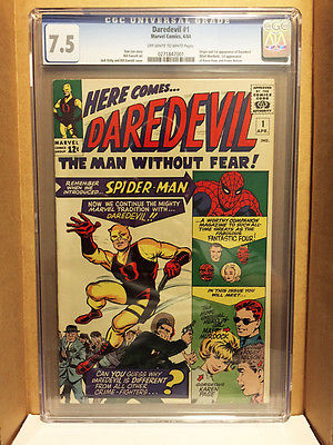 Daredevil 1 CGC 75 Hot book Presents better