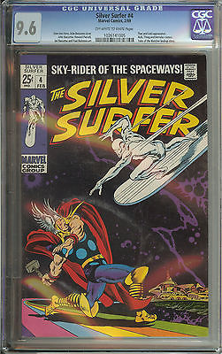 SIVER SURFER 4 CGC 96 OWWH PAGES  THOR VS SILVER SURFER CLASSIC COVER