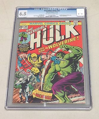 INCREDIBLE HULK 181 CGC 65 OWTW PAGES 1st APP WOLVERINE BEST 65 PRICE ON EBAY