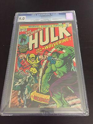 The Incredible Hulk 181 1974 CGC 90  Universal Blue Label  1st Wolverine