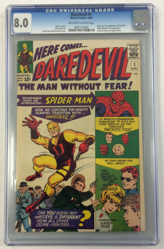 CGC 80 DAREDEVIL 1 1ST APPEARANCE SILVER AGE MARVEL COMIC BOOK KIRBY COVER