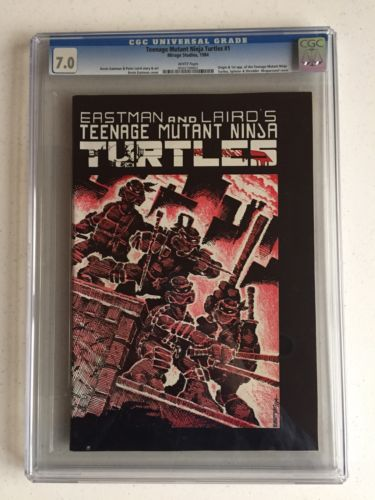 Teenage Mutant Ninja Turtles TNMT 1 CGC 70 FIRST PRINT WHITE PAGES