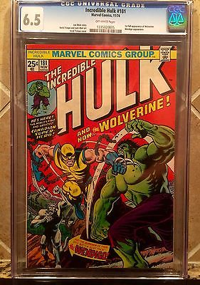 MARVEL INCREDIBLE HULK 181 CGC 65 FIRST APPEARANCE WOLVERINE NEW CASE