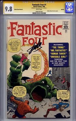 Fantastic Four 1 GRR CGC SS 1 Stan Lee White Pages