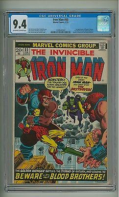 Iron Man 55 CGC 94 OWW pgs 1st app Thanos Starlin Marvel 1973 c06979
