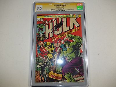 Incredible Hulk 181 CGC SS 85 1st Full appearance of Wolverine  Stan Lee Auto