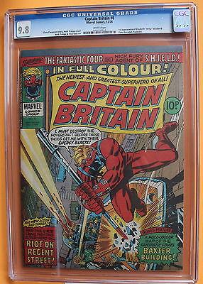 CAPTAIN BRITAIN 8 UK 1976 RARE 1st Betsy Braddock PSYLOCKE XMen CGC NMMT 98