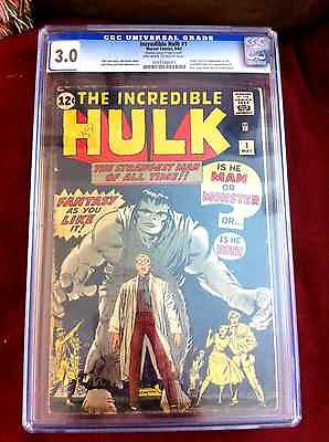 The Incredible Hulk 1 May 1962 Marvel CGC 3
