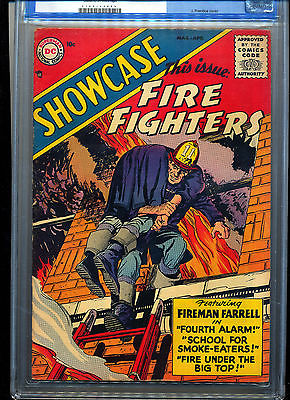 Showcase 1 1956 Fire Fighters CGC FNVF 70  Very Tough in High Grade