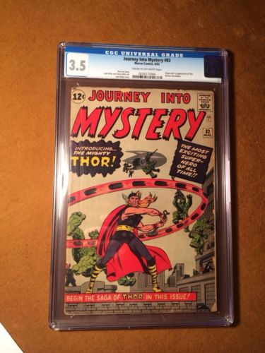 Journey Into Mystery 83 Marvel 1962 1st Thor Appearance CGC 35 VG