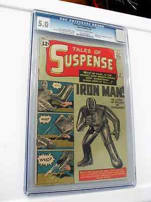 TALES OF SUSPENSE 39 CGC 50 owwhite pages no marks Origin1st Iron Man
