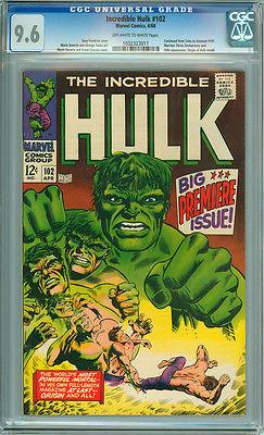 Incredible Hulk 102 CGC 96 NM OWW Pages Marvel 1968 Origin Retold