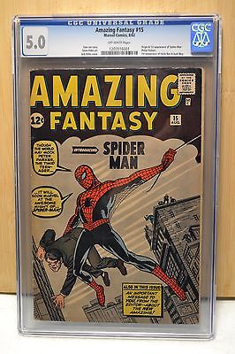 Amazing Fantasy 15 CGC 50 VGFN Blue Label OffWhite Pages Spiderman