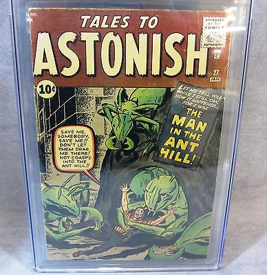 TALES TO ASTONISH 27 AntMan 1st app Stan Lee Jack Kirby sig CGC 40 Marvel