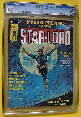 MARVEL PREVIEW 4 Origin 1st STARLORD 1976 Guardians of Galaxy CGC NMMT 98