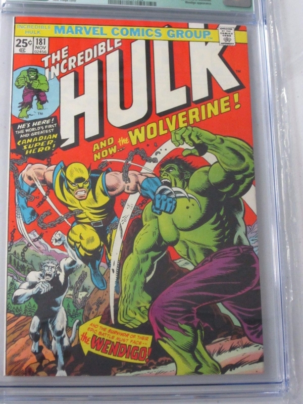 INCREDIBLE HULK 181 CGC 80 WHITE PAGES 1ST FULL APPEARANCE OF WOLVERINE NO MVS