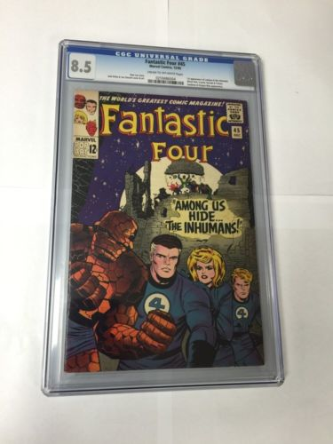 Fantastic Four 45 Cgc 85 Wow 1St First Inhumans Great Photos