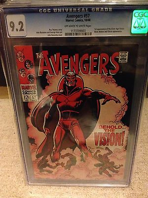 Avengers 57 CGC 92   OffWhite Pages First Vision Age of ultron 1968
