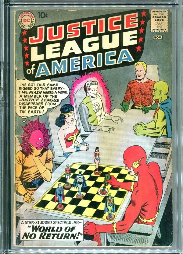 JUSTICE LEAGUE OF AMERICA 1 CGC 35 FLASH WONDER WOMAN BATMAN SUPERMAN 1960