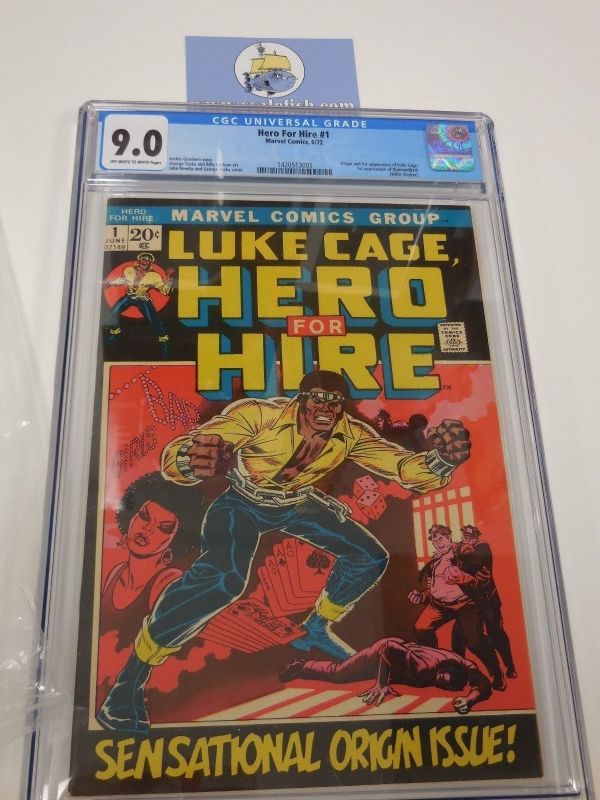 Hero for Hire 1 cgc 90 1972 origin 1st appearance of Luke Cage Power Man Sweet