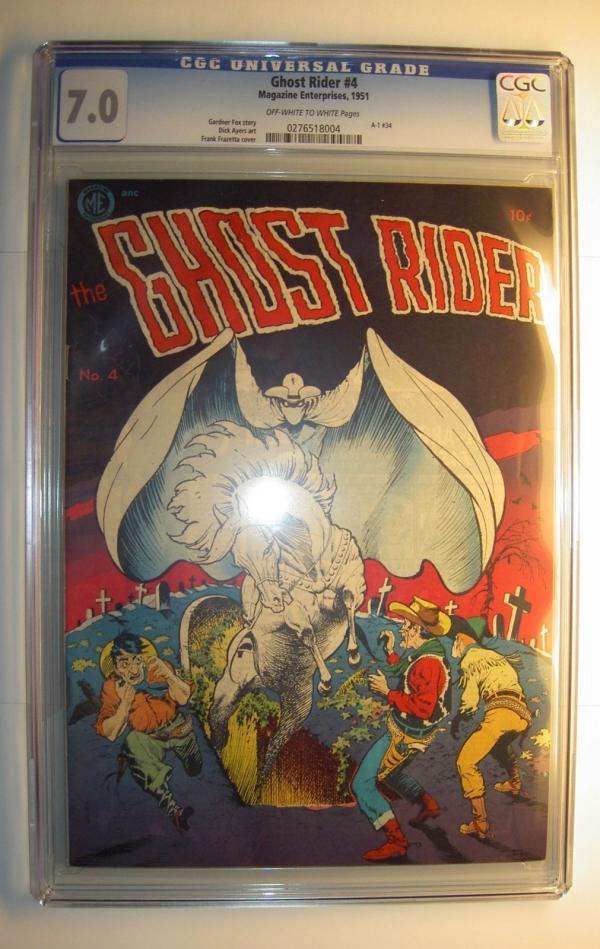Ghost Rider 4 FVF CGC 70 1951 ME Golden AgeFrazetta cover Dick Ayers art