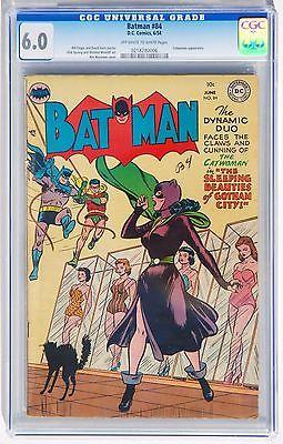 BATMAN 84 CGC 60 DC GOLDEN AGE COMIC BOOK 1954 BATMAN CATWOMAN BEAUTY CONTEST