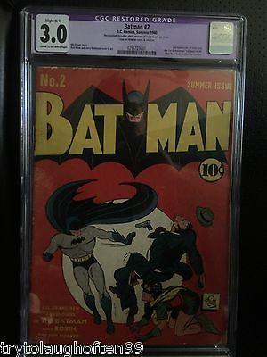 Batman 2  Golden Age Key  2nd Joker  2nd Catwoman CGC 30 C1
