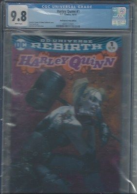 HARLEY QUINN 1 BULLET PROOF COMICS PINK DELLOTTO VARIANT COVER CGC 98