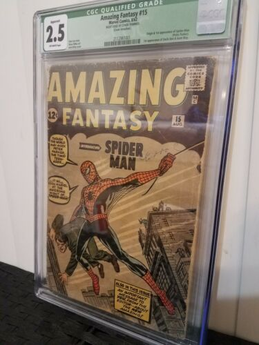 Amazing Fantasy 15 CGC 25 green label Apparent