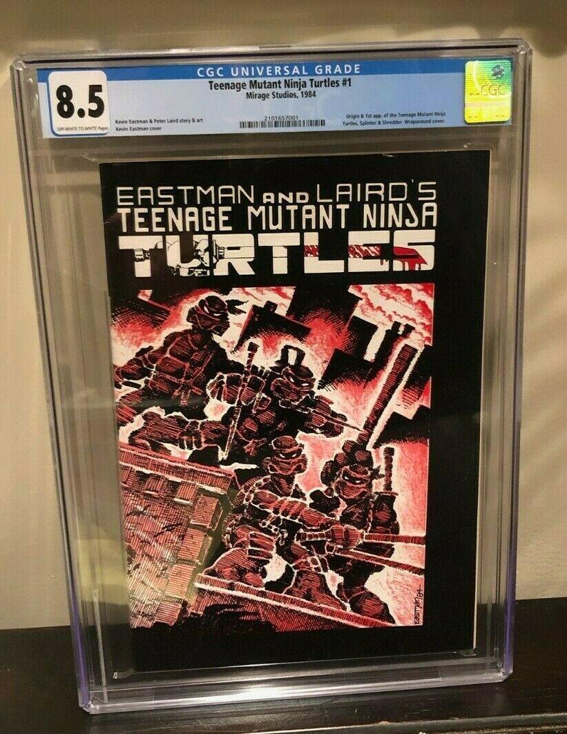 TEENAGE MUTANT NINJA TURTLES 1  CGC 85 OWW VF Mirage 1984 1ST PRINT TMNT