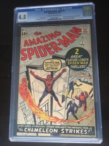 Amazing SpiderMan 1 CGC 45 Cr To OW Pgs 31963 Unrestored 3 Day Auction Nice