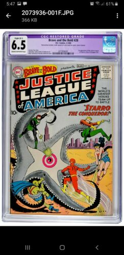 Brave and the Bold 28 CGC 65 CreamOW 1st Appearance of the Justice League