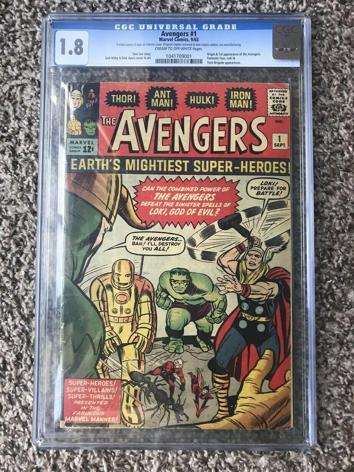 AVENGERS 1 CGC 18 Origin 1st App of Avengers See Description