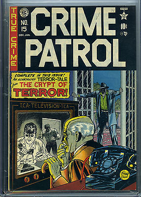 CRIME PATROL 15  CGC  EC  1st Crypt Keeper  Crypt of Terror  High grade