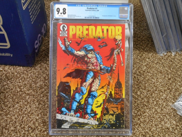 Predator 1 cgc 98 1st appearance 689 1st print Dark Horse 1989 WHITE pgs movie