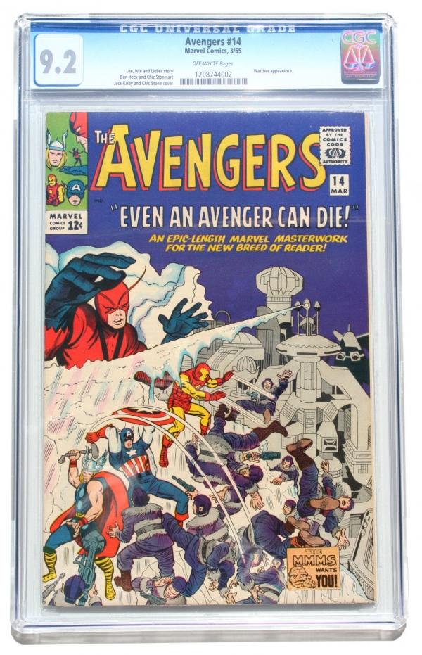 CGC 92 AVENGERS 14  Iron Man  Captain America  Watcher  Marvel  1965