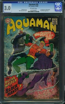 AQUAMAN 35 CGC 30 1 ST BLACK MANTA BATMAN SUPERMAN JLA FANTASTIC FOUR