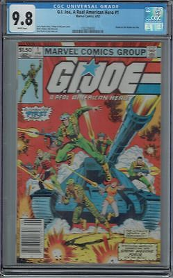 CGC 98 GI JOE A REAL AMERICAN HERO 1 WHITE PAGES 1ST APPEARANCE MARVEL 1982