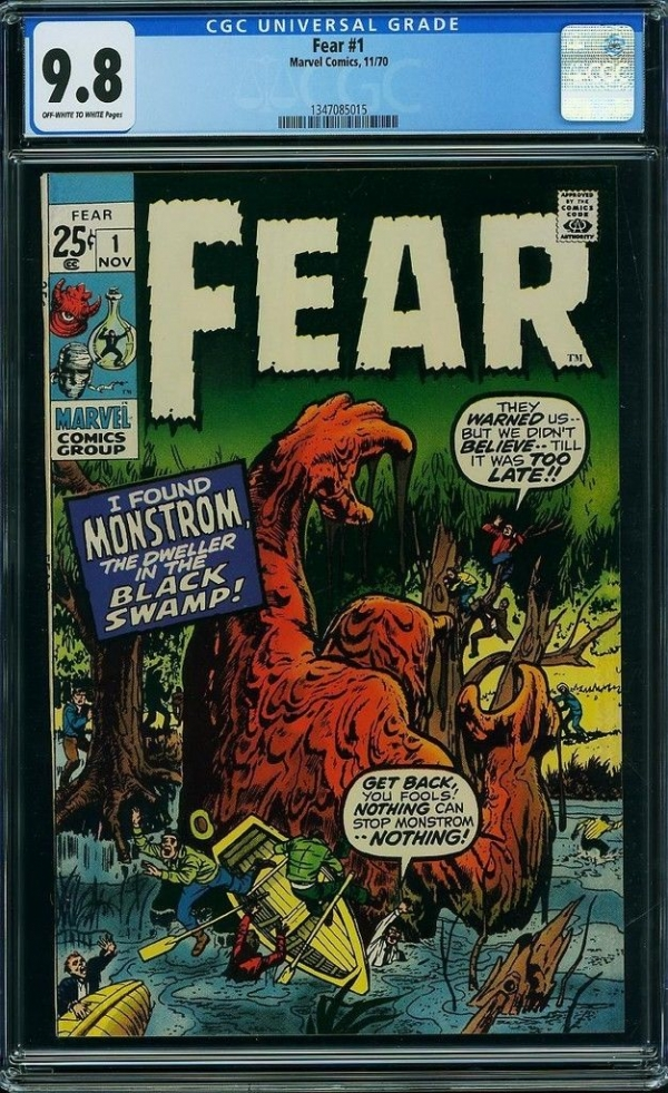 Fear 1 CGC 98 RARE TOP GRADED 1970 GIANT HORROR KIRBY 1 of JUST 4 NMMINT TOTAL