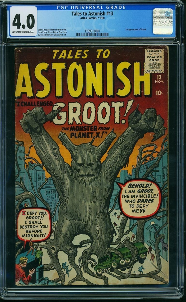 TALES TO ASTONISH 13 CGC VG 40 1 ST GROOT OWWP GUARDIANS OF GALAXY AVENGERS