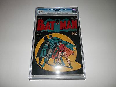 Batman 9 1942 CGC 60 Classic Cover 1st Christmas Story Joker Red Ryder Ad